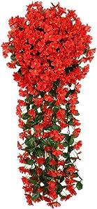 36 Bundles Artificial Flowers Outdoor Fake Flowers, Artificial Plants Greenery, Shrubs Plants, No Fade, Hanging Violet Ivy Hanging Baskets Wedding Arch Garden Porch Window Box Home Farmhouse Decor