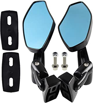 AUTOKAY Motorcycle Mirrors Racing Rearview Mirrors CNC Aluminum Anti-Glare Side Mirror Fits for Honda CBR 600 F3 F4i Kawasaki Ninja ZX 6 7 9 12 Yamaha FZR YZF R1 R6 S Suzuki GSXR