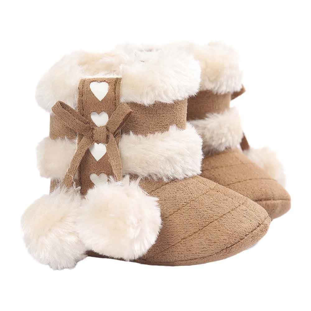 Beikoard - Chaussure Bébé Chaussures d'hiver Chaud Bébé Fille Garçon Garder Au Chaud Doux Sole Chaussures Enfant Bottes
