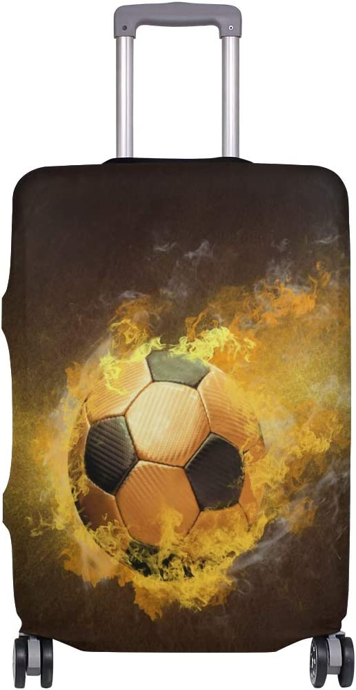 Blue Viper Soccer Ball With Fire Luggage Protective Cover Suitcase Protector Fits 22-24 Inch Luggage