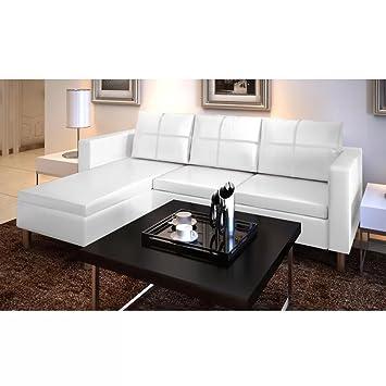 WEILANDEAL Sofa Modular de 3 plazas de Cuero Artificial ...