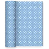 Maxi Products Mantel de Papel para Fiesta con Decorado de Lunares Azul Baby - Ideal para Fiestas Infantiles, Baby Shower…