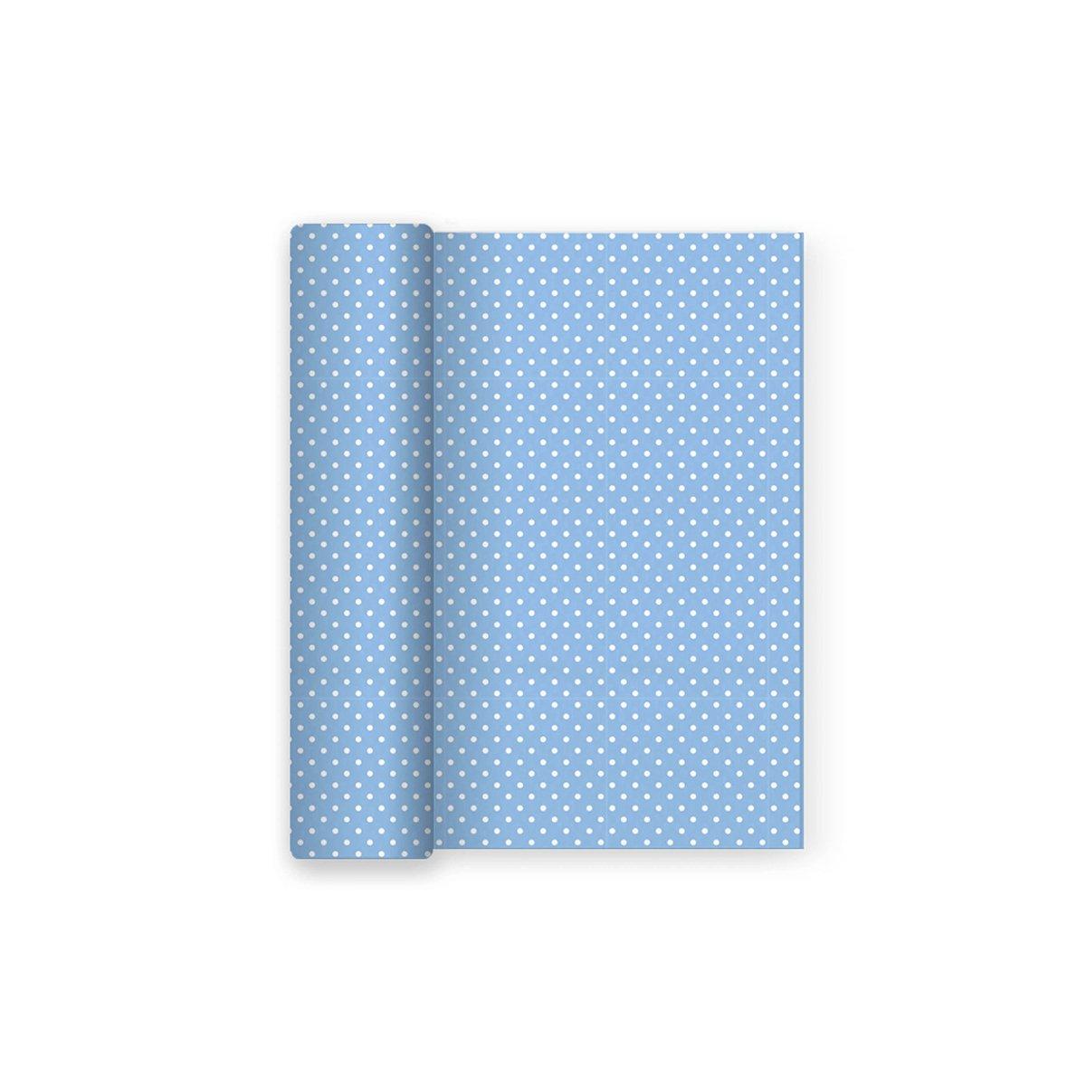 Mantel de papel para fiesta con decorado de Lunares Azul Baby - Ideal para fiestas infantiles, baby shower, comuniones o bautizos - 1,2 x 5 m: Amazon.es: ...