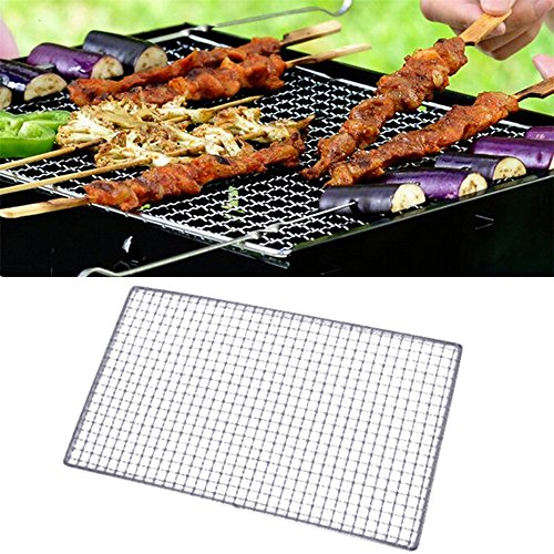 Tmibay BBQ Grill Wire Netting Metal Squares Holes Grilling Barbecue Wire Mesh Barbecue Tools (35x50CM)