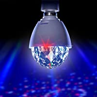 Playlearn LED Full Color Crystal Auto Rotating Disco DJ Stage Light Bulb with B22 Bayonet Cap