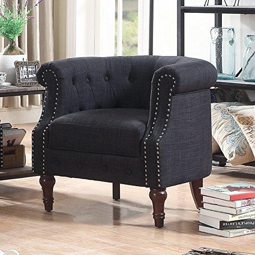 Rosevera C21 Barrel Chair, Charcoal