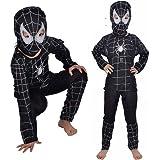 Taille M - 5-6 ans - Déguisement - Déguisement - Carnaval - Halloween - Super Héros - Spider homme - Noir - Enfant