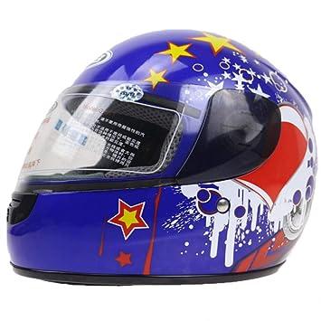 LOLIVEVE 3-12 Años Casco De Moto para Niños Casco De Motocicleta De Cara Completa