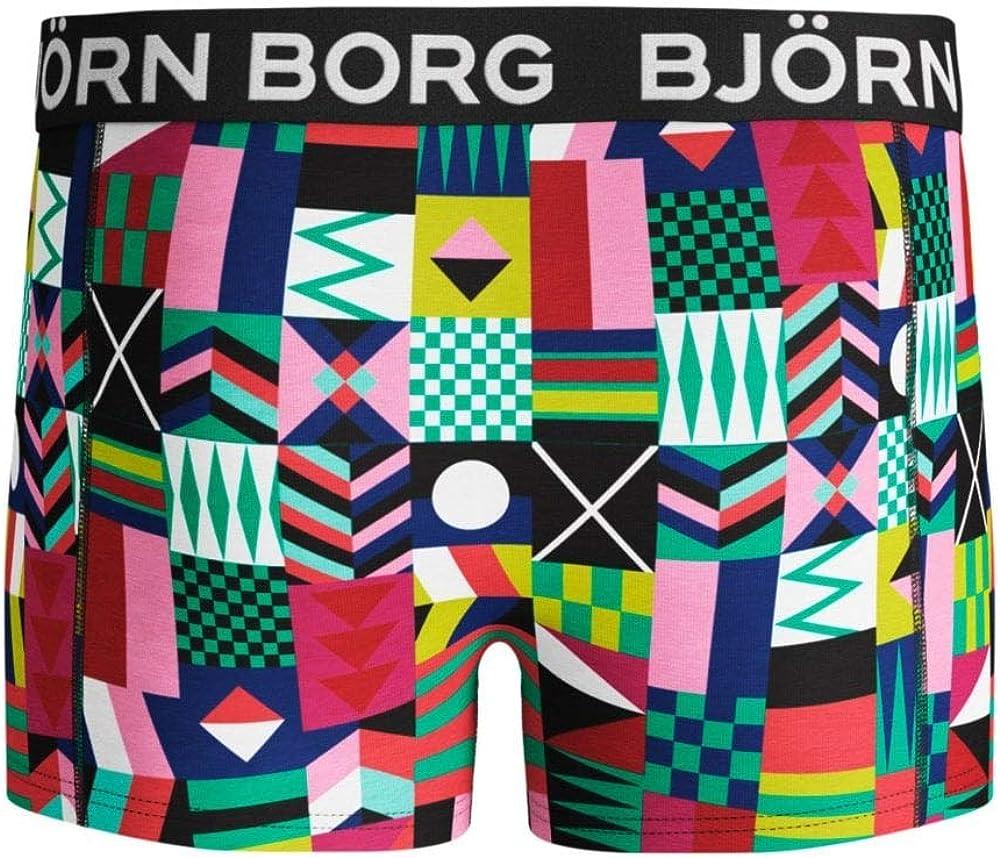 Bjorn Borg 2-Pack Geo Flags /& Camo Boys Boxer Trunks Blue//Multi