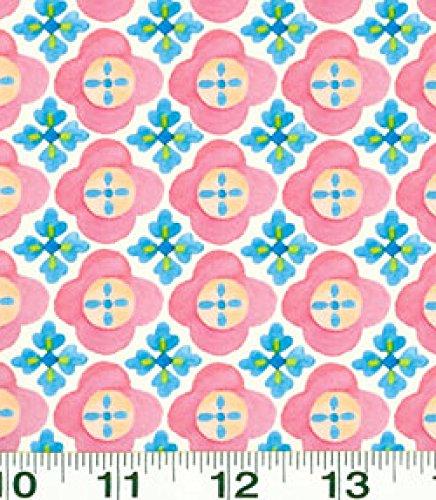 - 1 Yard Suzette by Sue Zipkin from Clothworks Cream Geometric 100% Cotton Quilt Fabric Y0912-2