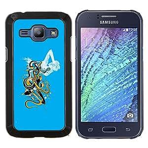 Cubierta protectora del caso de Shell Plástico || Samsung Galaxy J1 J100 || Arte abstracto de la nube @XPTECH