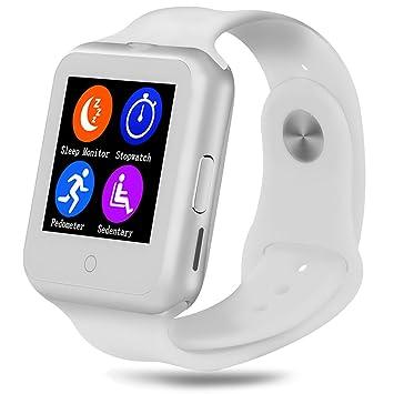 Fitness actividad Tracker, qimaoo muñeca reloj inteligente con bluetooth y monitor de frecuencia cardíaca,