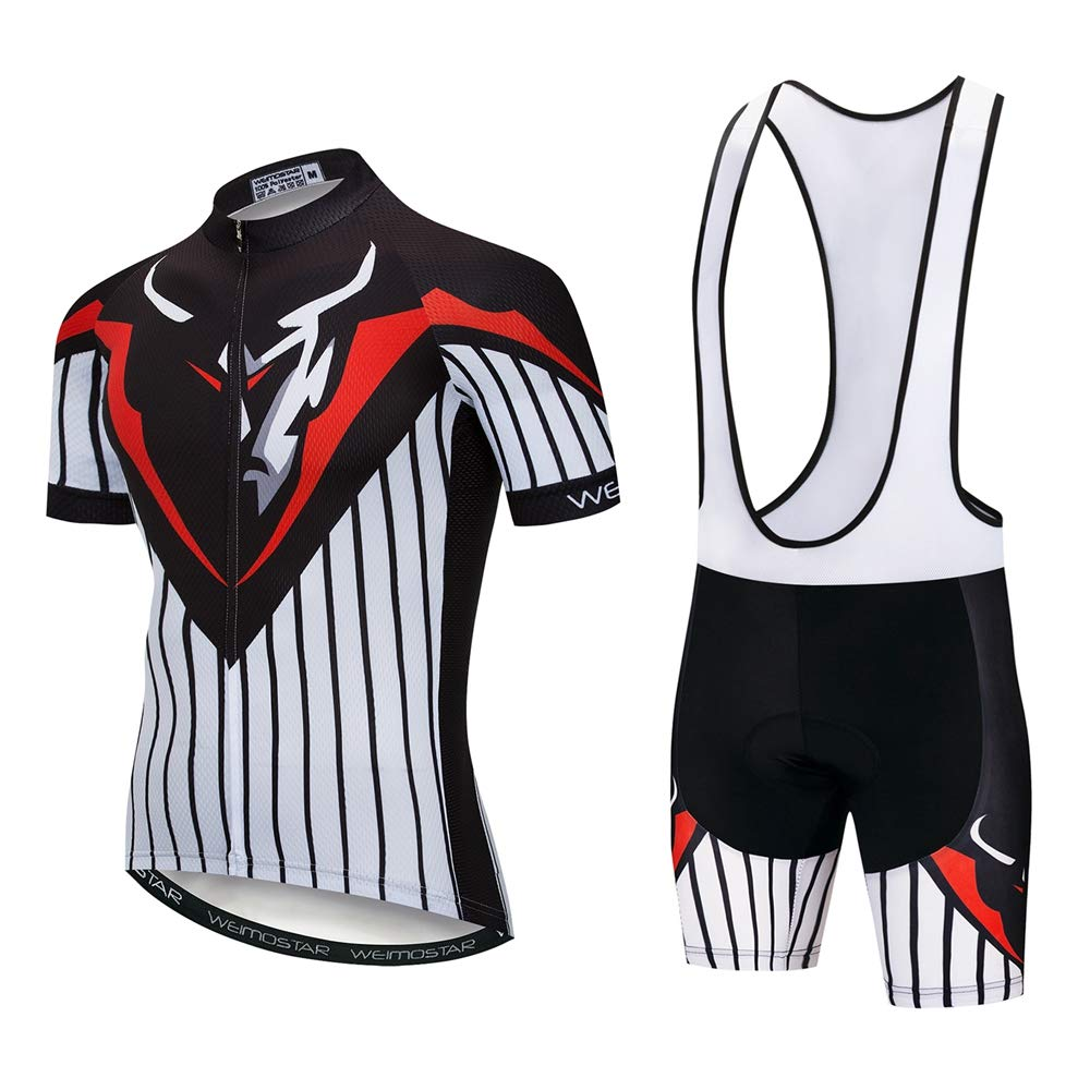 Weimostar Cycling Jersey Short Sleeve Set Men MTB Bike Clothing