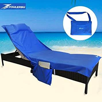 beach chair cover chaise lounge chair towel for pool sun lounger hotel
