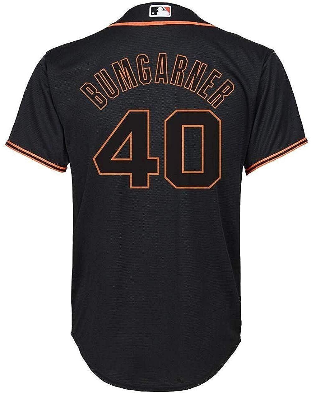 Madison Bumgarner San Francisco Giants MLB Boys Youth 8-20 Black Alternate Cool Base Replica Jersey