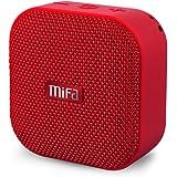 MIFA Mini Lautsprecher Bluetooth 4.2 Technologie TWS & DSP, 15 Stunden, IP56 Wasserfester und Staubdichter mit 3,5mm Audio-Eingang, Micro SD Karte Slot und Eingebautem Mikrofon für iPhone, iPad, Samsung, Nexus, Schwarz