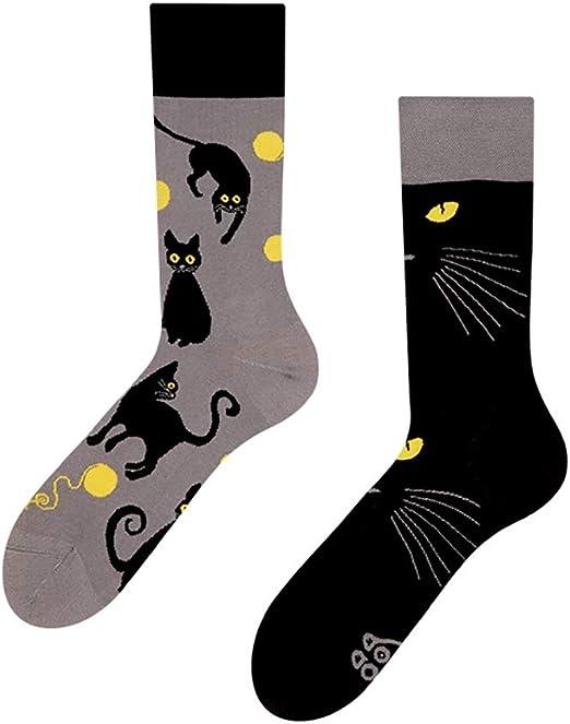 Good Mood - Calcetines de diseño para gatos (1 par), multicolor ...