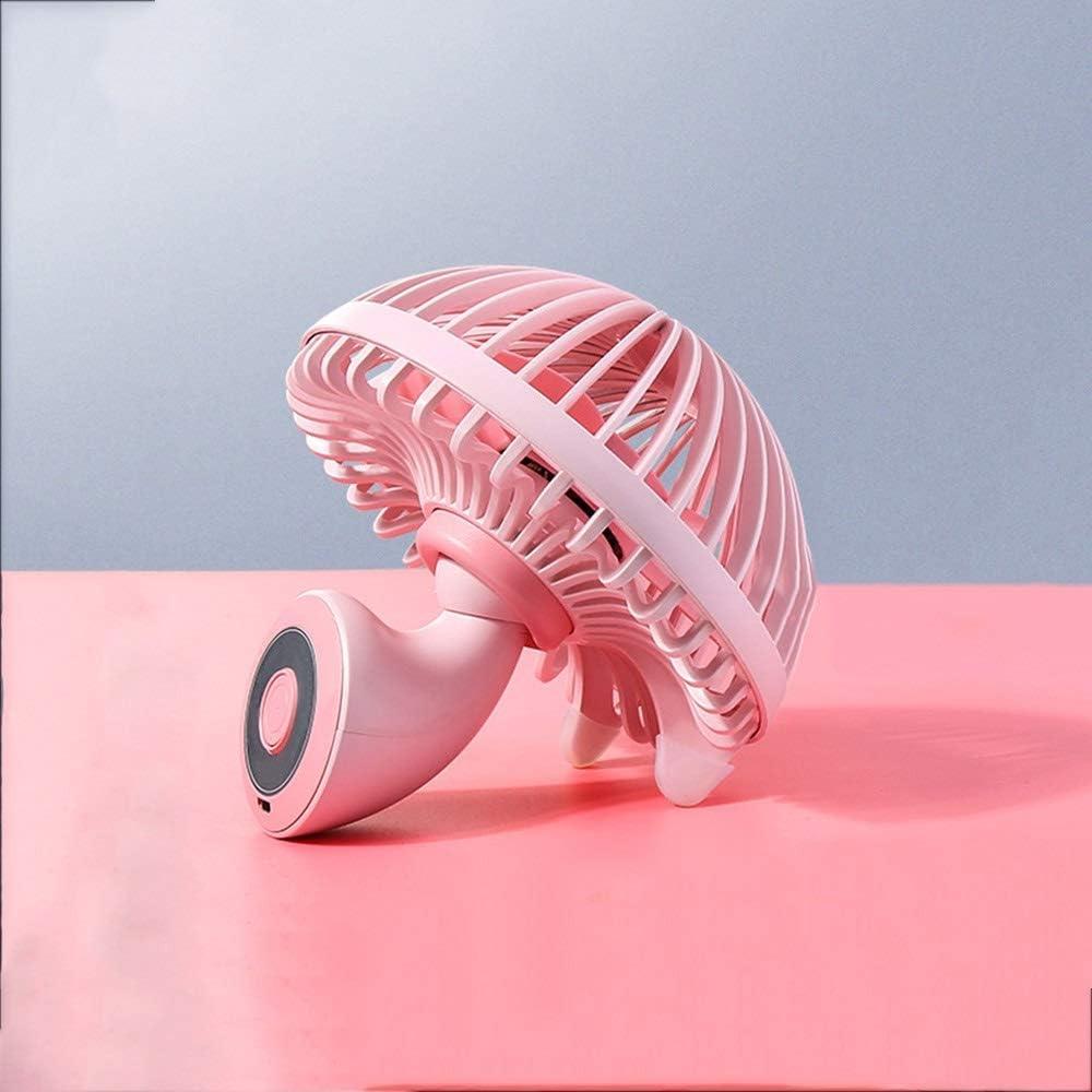 Handheld Electric Fan USB Mini Fan Rechargeable Desktop Dormitory Bed Mute Three Wind Portable Fan Color : Gray