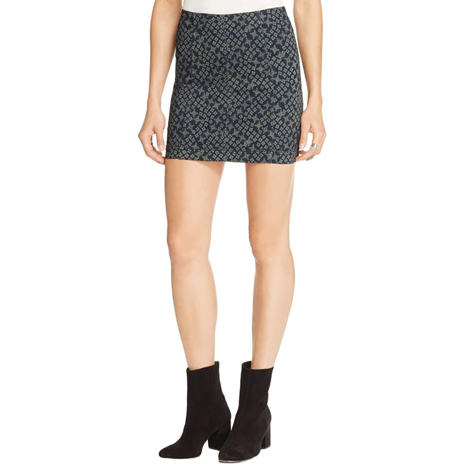 Free People Womens Printed Floral Mini Skirt for cheap