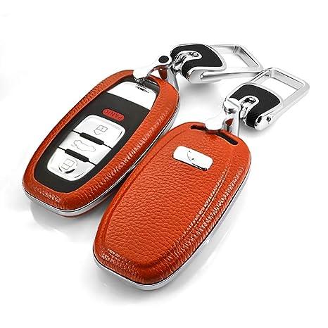 Amazon.com: ontto - Funda de piel para llave de coche con ...