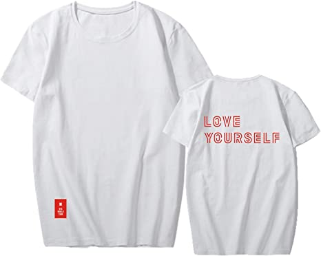 Sudadera BTS 2018 Love Yourself World Tour camiseta Jimin Jungkook V Tee Top - XQ-FQ2278-White A-L, Large, Blanco A: Amazon.es: Deportes y aire libre