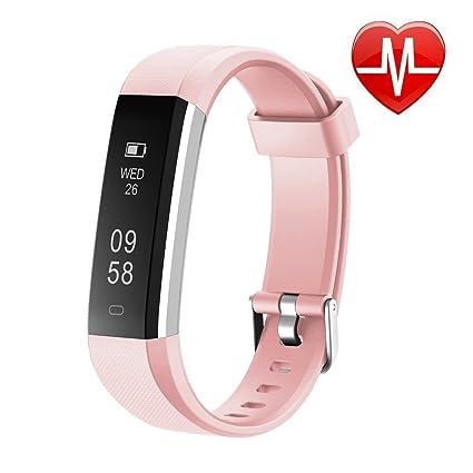 Reloj de pulsera unisex VCQKLF-ID115U para hacer deporte con monitor de la frecuencia cardíaca, ...