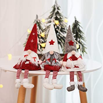 Amazon.com m·kvfa Christmas Santa Doll,Decorations Faceless