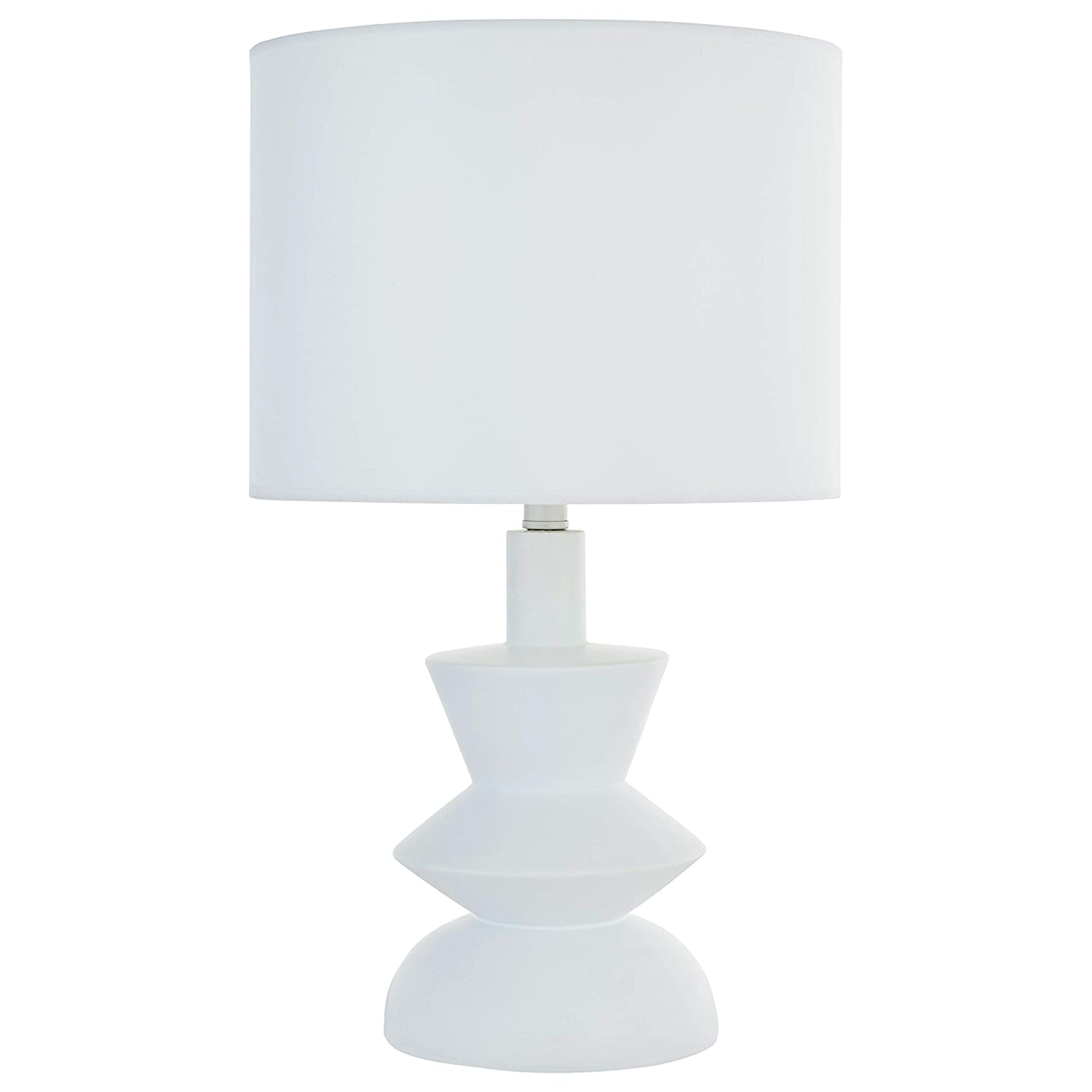 """Rivet Mid-Century Contemporary Table Lamp with Bulb, 21""""H, White - 67095"""