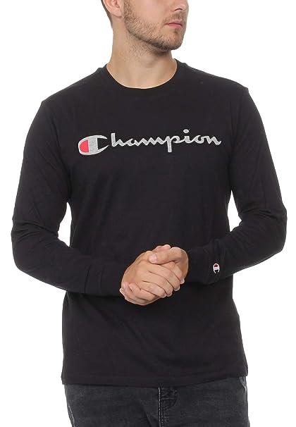 abebcded Champion Men's's Crewneck Long Sleeve T-Shirt: Amazon.co.uk: Clothing