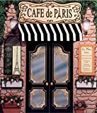 5x7ft Paris Retro Stone Coffee Store Eiffel Tower Backgrounds High-grade Pictorial cloth Computer print party backdrops CST1016