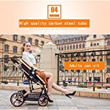 OLY Suitable for 0-3 Years Old Baby Newborn Baby Stroller Carbon Steel Material and Rubber Wheel Folding Convenience Stroller