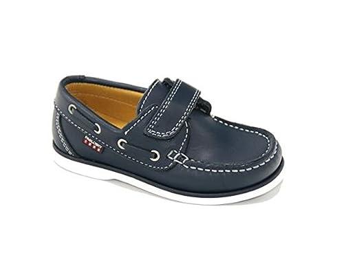 PABLOSKY - Mocasín Náutico Piel Cuero Niños Color: Azul Talla: 34: Amazon.es: Zapatos y complementos