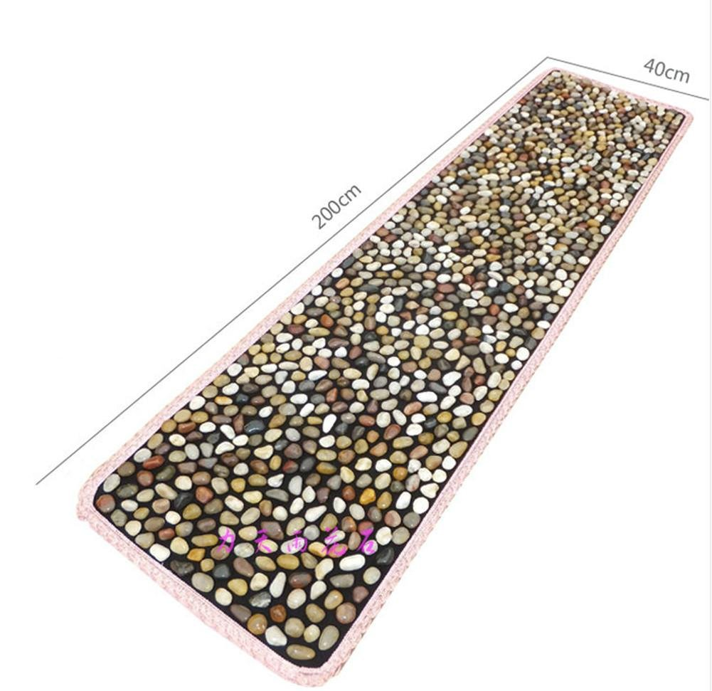 WE&ZHE 2M Natural Pebbles Stone Foot Massage Pad Foot Massage Health Care Equipment Foot Gravel Blanket