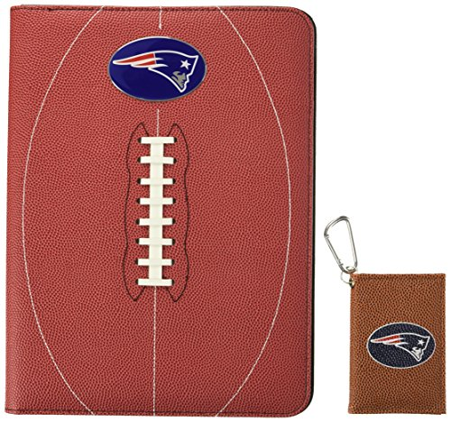 Nfl Portfolio (NFL New England Patriots Classic Football Portfolio & ID Holder Gift Pack, One Size, Brown)