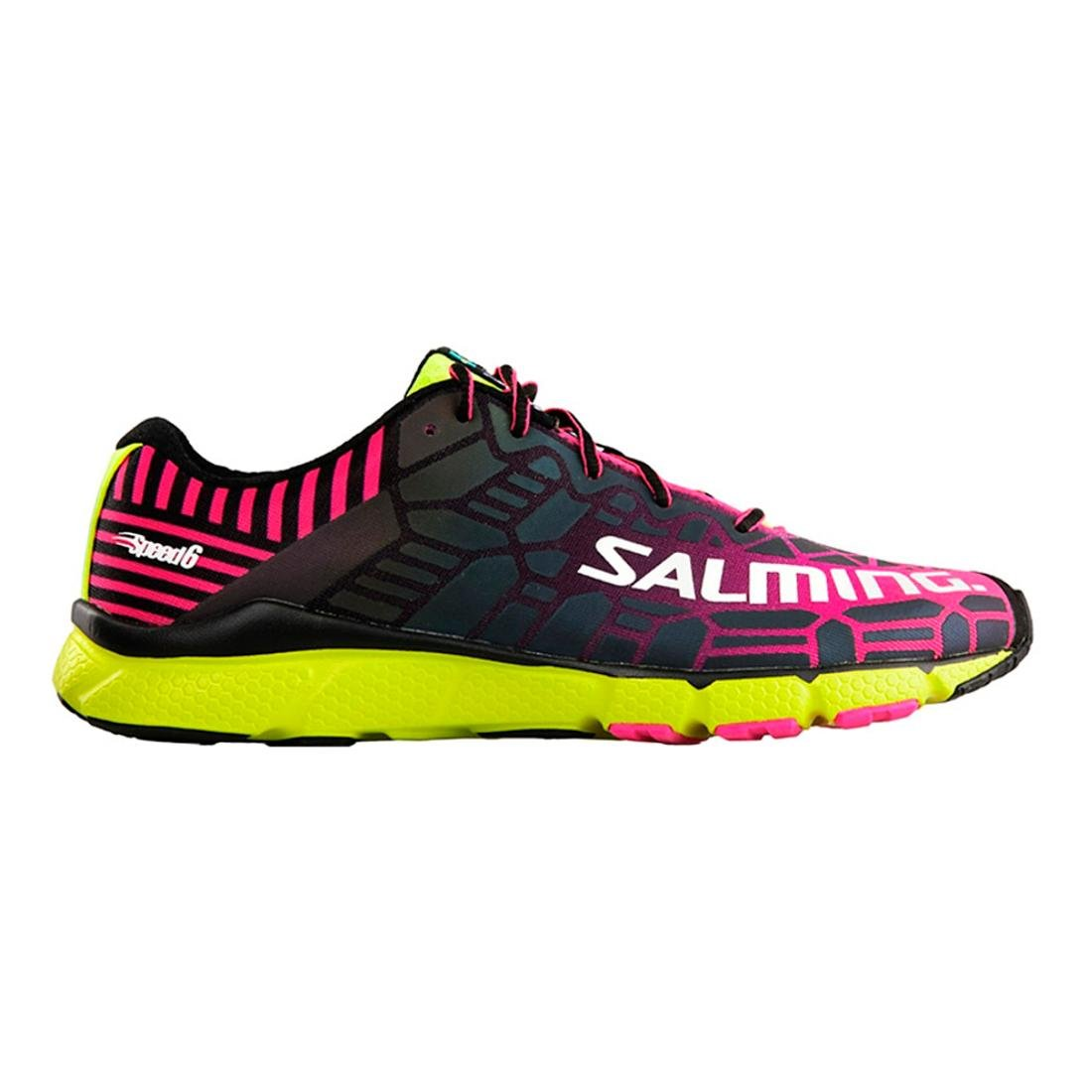 Salming Speed 6 Shoe Women Black Magenta Laufschuhe Schwarz Pink