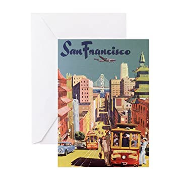 Amazon cafepress vintage travel poster san francisco cafepress vintage travel poster san francisco greeting cards greeting card 10 pack m4hsunfo