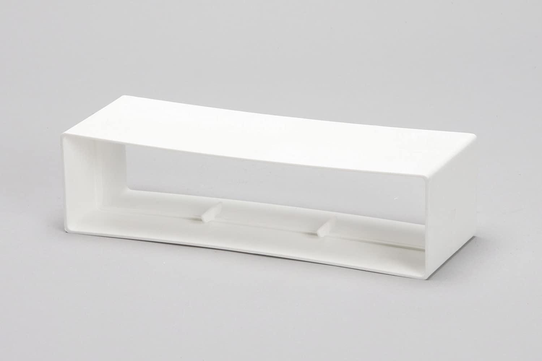/Plastique Blanc Naplesuk 204/mm x 60/mm rectangulaire canal Conduit connecteur/