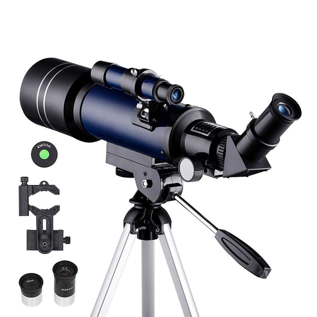 LLP LM Astronomical Telescope 70mm Refractor Telescope Moon Watching for Kids Adults Astronomy Beginners 16X 67X Lens with Finder Scope by LLP LM