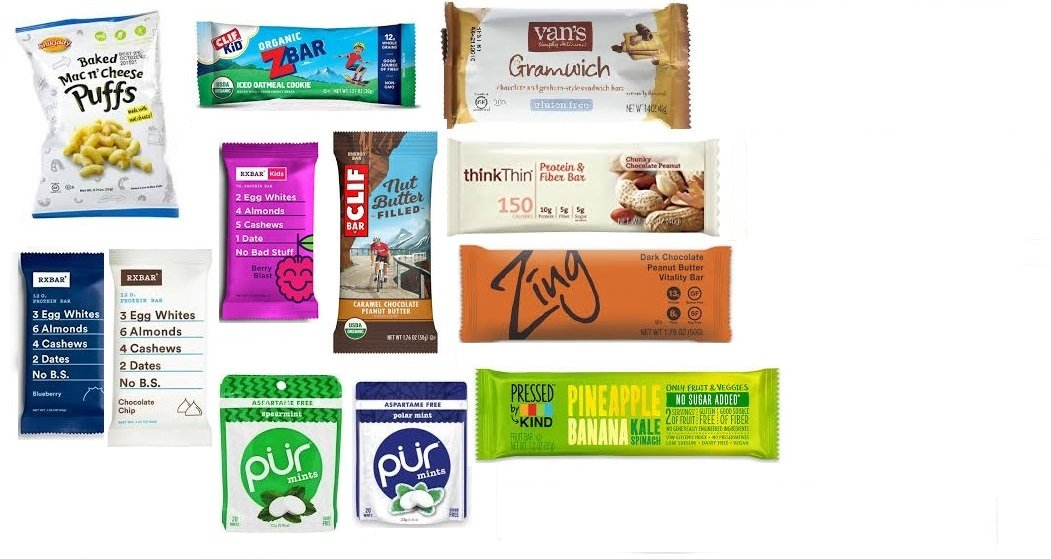 Goodness Express Sampler Variety Pack of Healthy Snacks (12 Specialty, Organic, and Natural Bars and Snacks) June 2018