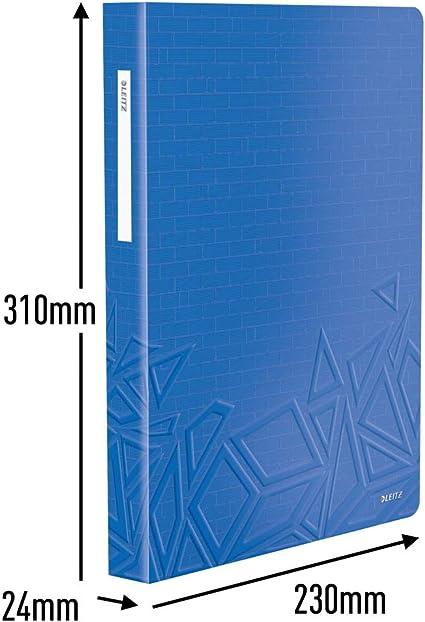 80 Klarsichth/üllen f/ür 160 Blatt 46520032 Leitz Urban Chic Sichtbuch in A4 Format Blau