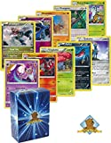 25 Pokemon Rare Card Lot 120 HP or Higher With Holos! No Duplicates! Bonus Pokemon Collectible Coin! Includes Golden Groundhog Deck Box!