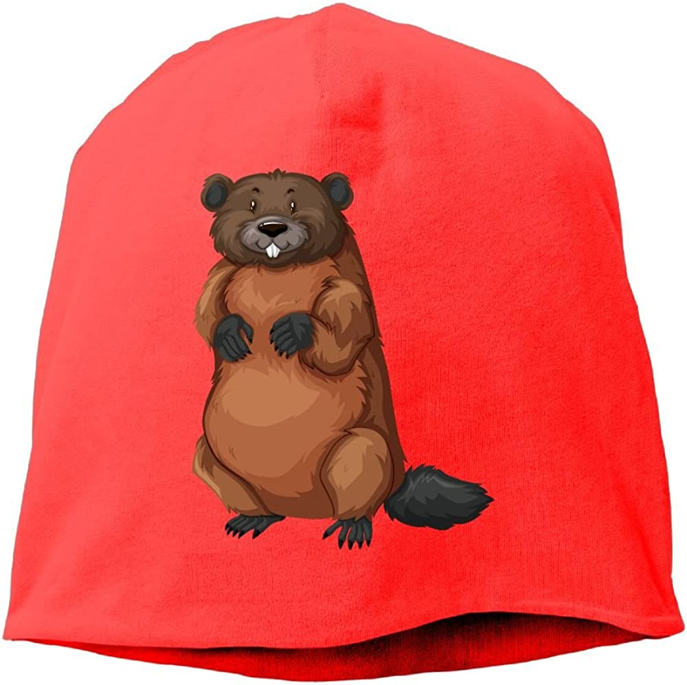 Fashion Solid Color Lifelike Groundhog Warm Cap for Unisex RoyalBlue One Size