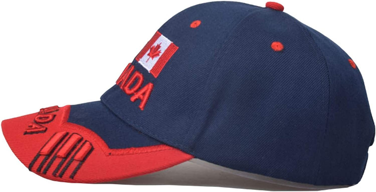 Nanci si Canada Flag Eagle Embroidery Baseball Cap Cotton Snapback Cap Fitted Casual Dad Hats for Men Women