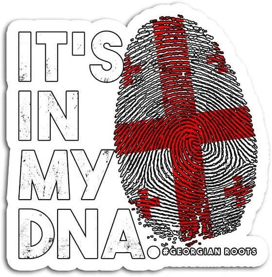 Decal Stickers for Laptop Sticker for Tumblers in My DNA Georgia Flag Georgian Roots Waterproof Decal Perfect for Phone Water Bottle Vehicles (5 Pcs/Pack)
