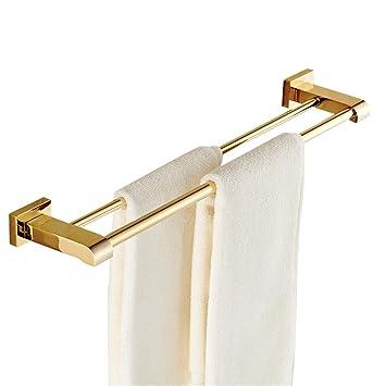 Weare Home Doppel Handtuchstange Handtuchhalter Für Badezimmer Dusche Küche  Aus Hochwertig Alle Messing Luxus Poliert Gold