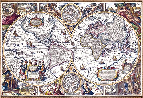1000 piece jigsaw puzzle (26x38cm) Old maps antique map micro piece