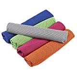 Keklle 5 Pack Cooling Towel, Super Sweat-Absorbent Sports Towel for Sports, Workout, Fitness, Gym,Yoga, Pilates, Travel,Camping,Running,Training,Driving, Cycling & Other Sports
