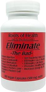 Eliminate - Natural Digestive System cleaner - Certified Organic & Vegan Friendly