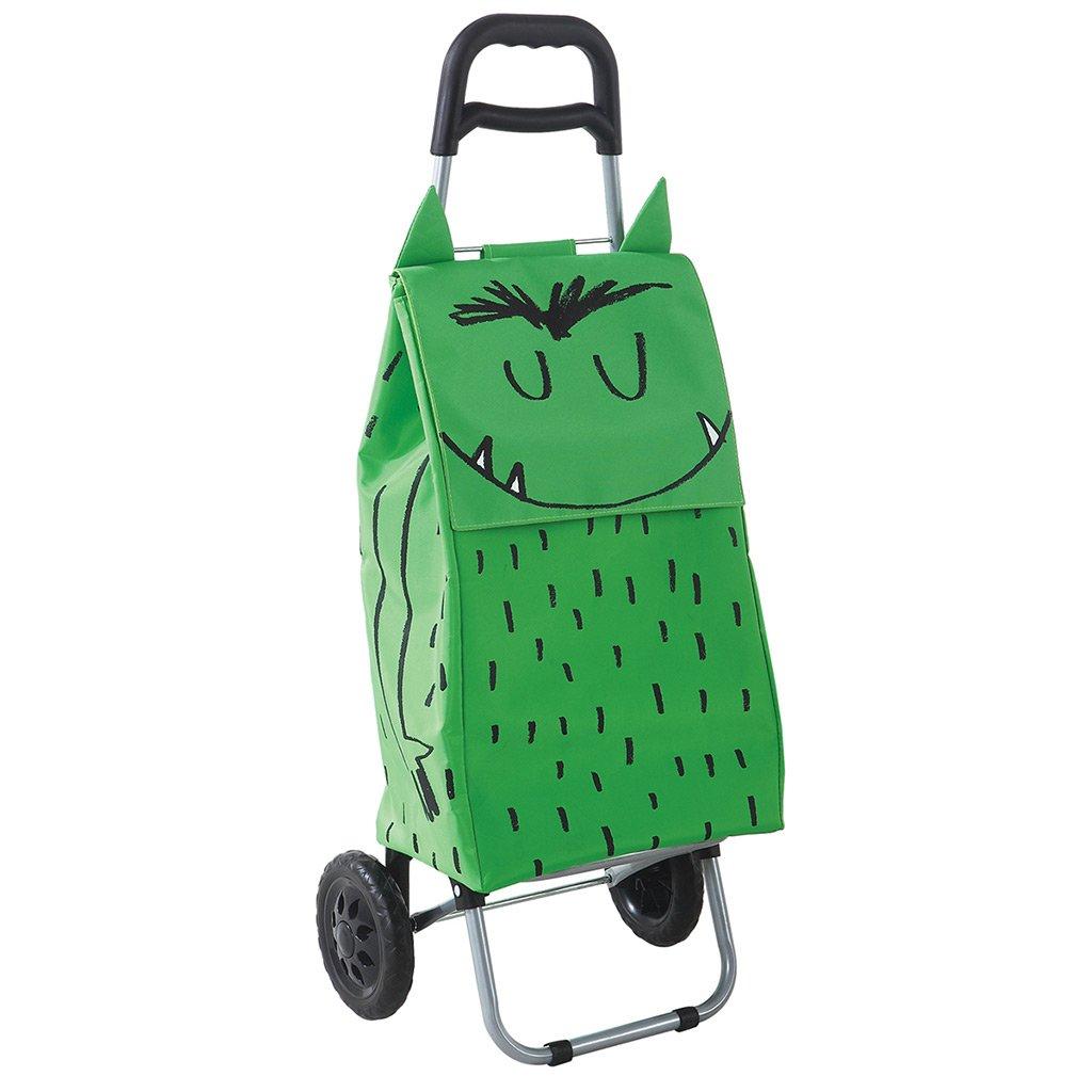 /Carrello Spesa con 2/Tasche Mostro 37/Litri laroom 13684/ Colore: Verde