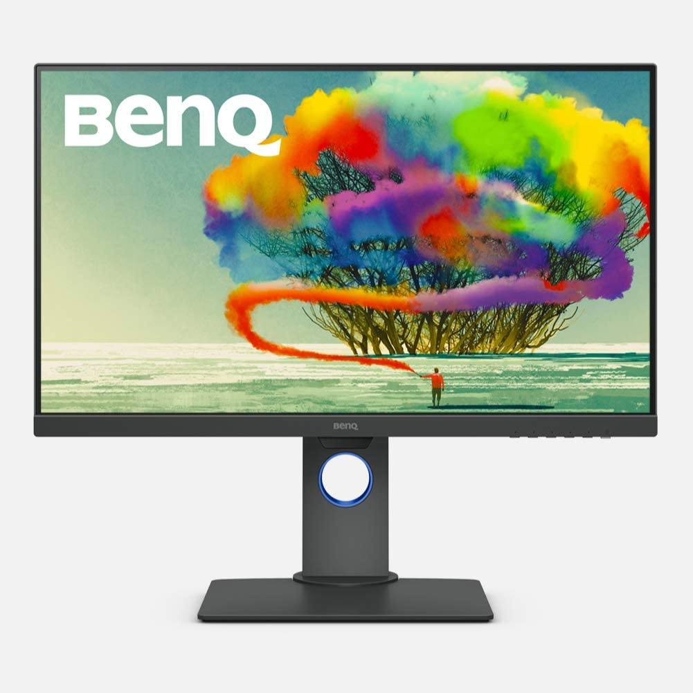 "BenQ 27"" 2K QHD Monitor, Commercial/Graphics Design, Video Editing (PD2705Q), 100% sRGB, HDR, Grey, 27"" QHD HDR USB-C (Factory Calibrated)"